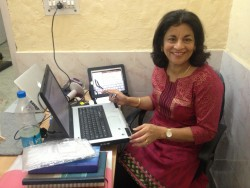 Namita working hard at WORK+SHELTER New Delhi