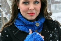 Madison Cowl in Cobalt